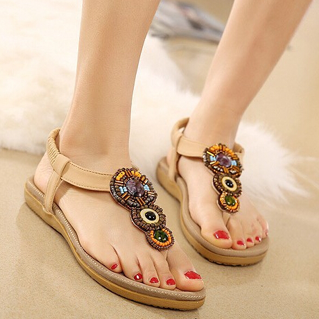 Womens Stylish Leather Flip Flop Summer Ladies Sandals