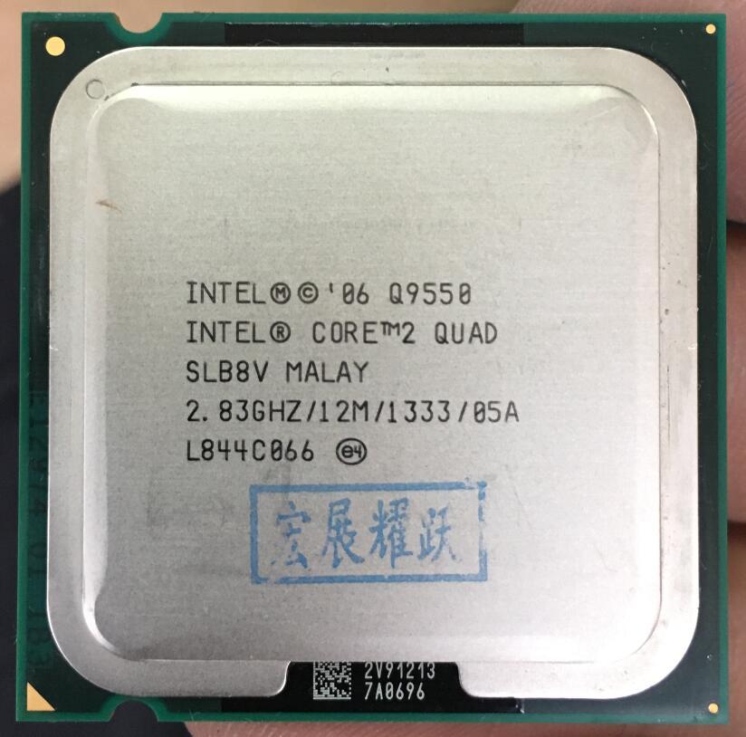 Intel Core2 Quad Prozessor Q9550 CPU SLB8V EO (12 mt Cache, 2,83 ghz, 1333 mhz FSB) EO LGA775 Desktop CPU