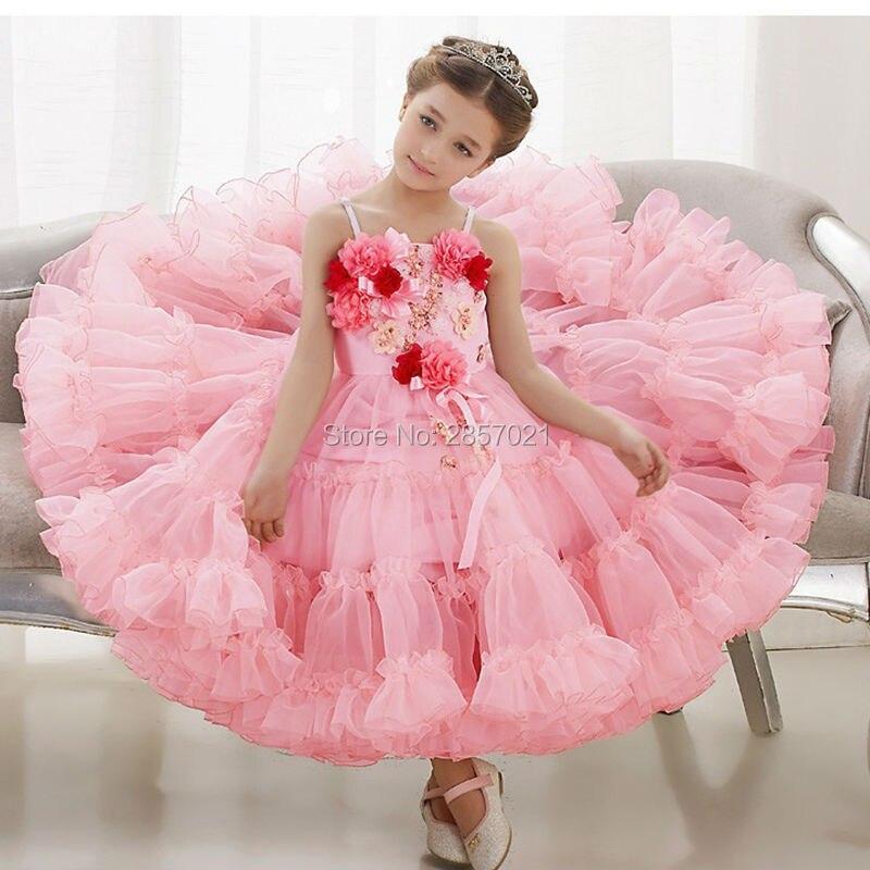 Bastante Vestidos Del Desfile para Chicas Glitz Rosa Té de Longitud ...