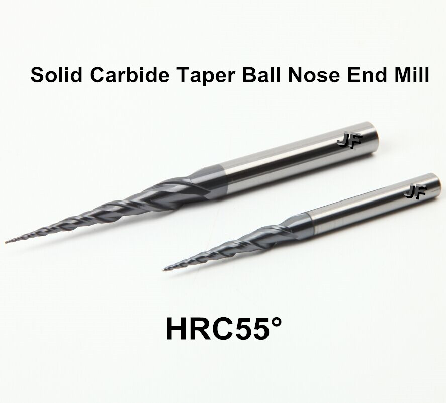R0.5x30xD6x100x2T HRC55 TiAlN Coated Solid Carbide 2 Flute