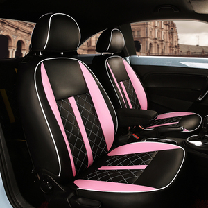 Image 4 - (2 קדמי + 2 אחורי) מותאם אישית רכב מושב כיסוי מושב מכונית עור באיכות גבוהה כיסוי עבור פולקסווגן חיפושית אביזרי רכב סטיילינג