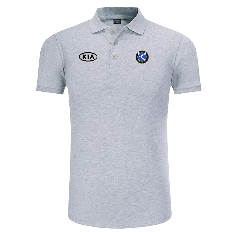 Kia logo   Polo   Shirt Men Brand Clothes Solid Color   Polos   Shirts Casual Cotton Short Sleeve   Polos