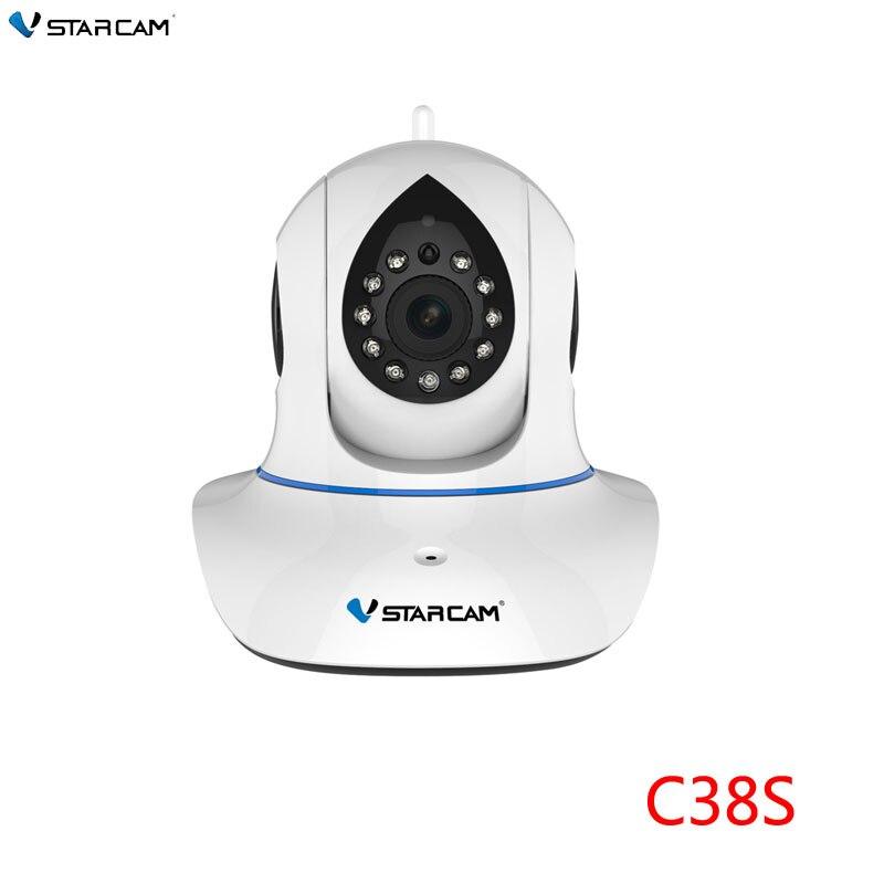 VStarcam CCTV 1080P 2MP Wifi IP Camera P2P ONVIF IR Cut Wireless Indoor P/T IP Camera two-way Audio with motion detector,SN:C38S