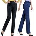 2017 Новое прибытие брюки прямые джинсы женщин плюс размер 42 43 женские джинсовые брюки