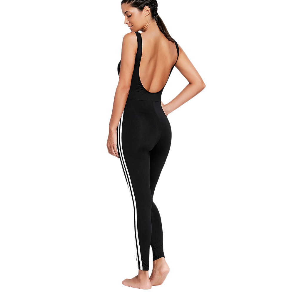 d139d2d24fd5 ZAFUL One Piece Gym Fitness Clothing Suit Padded Stripe Contrast Workout  Fitness Tights Running Tight Jumpsuits Sports Yoga Sets on Aliexpress.com