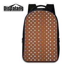 Dispalang мужчин и женщин легкий рюкзак для путешествий с принтом со звездой школьные сумки для подростков сумка для ноутбука ноутбук рюкзак