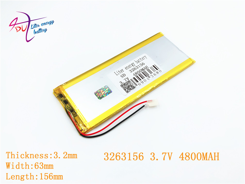 3263156 The tablet battery Rechargeable batteries 3.7V 4800MAH 3263156 Polymer lithium ion / Li-ion battery for tablet pc 407292 3 7v 3 8v 4800mah li polymer battery for tablet pc irbis tz56 tz49 3g tz709 tz707 ipaq texet tm 7043xd 407090 u25gt
