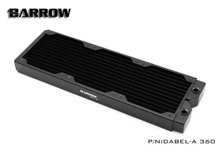 Barrow Dabel-A360 rame 360mm computer liquido scambiatore di calore di scarico Dell'acqua filo filettato radiatore per 12 cm fan