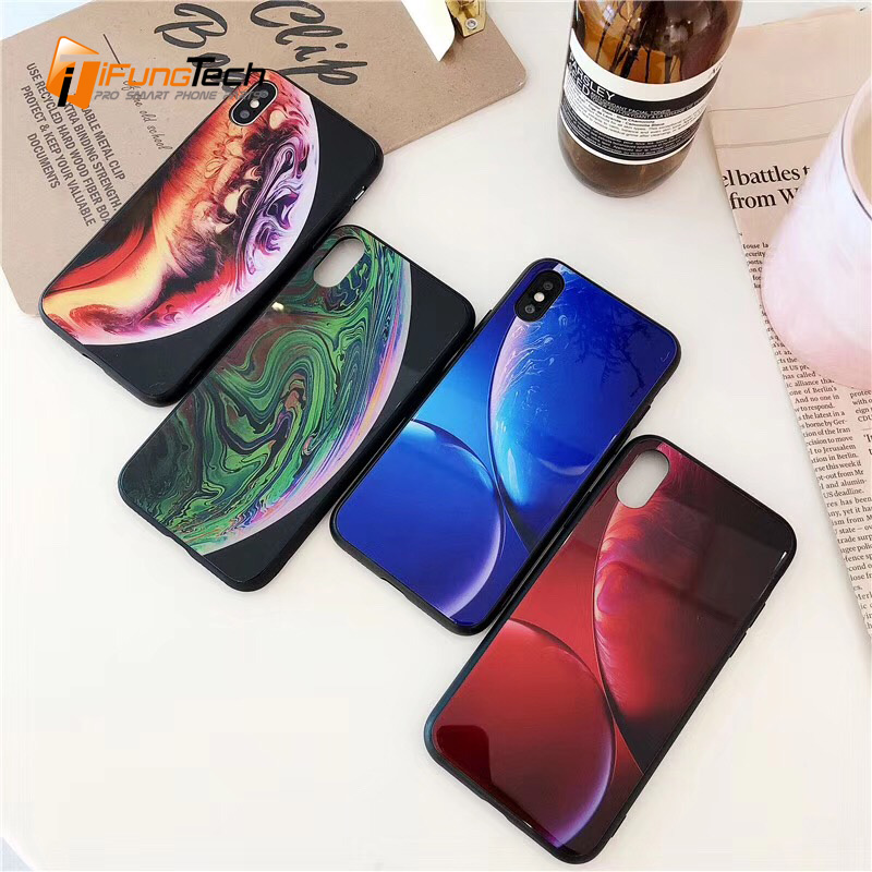 Us 3 33 Tide Brand Stars Space Cover For Iphone Wallpaper Case For Iphone 8 6s 7 X 6 Plus Glass Phone Cover For Iphone X Xr Xs Max Case In Fitted