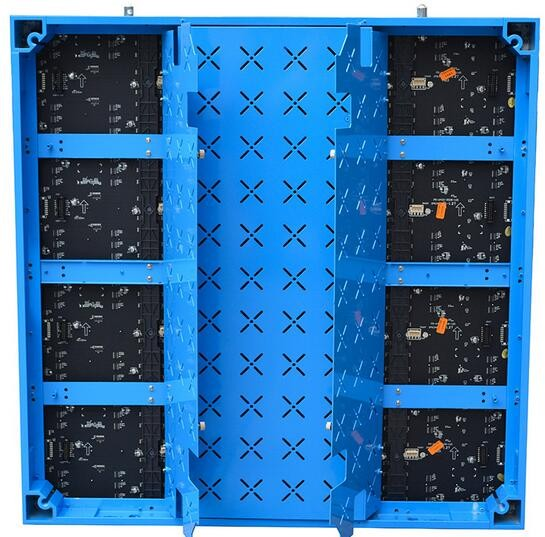 TEEHO 6pcs/lot P3 Indoor Full Color Aluminum Profile Cabinet Slim 576mm*576mm 192x192 Dots 1/32 Scan Rental Or Fixed Insllation