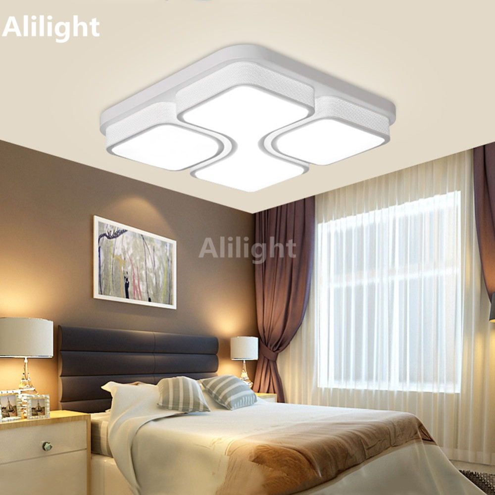 Led Modern Ceiling Lights Luminaire Hanging Light Fixture Ceiling Lamps  Square Acrylic Flush Mouut Lamp Living