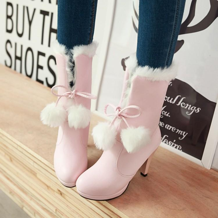 Cosplay Shoes Women Winter 2019 New Cute Japanese Sweet Lolita Shoes Women's Shoes Fine with Platform Short Boots