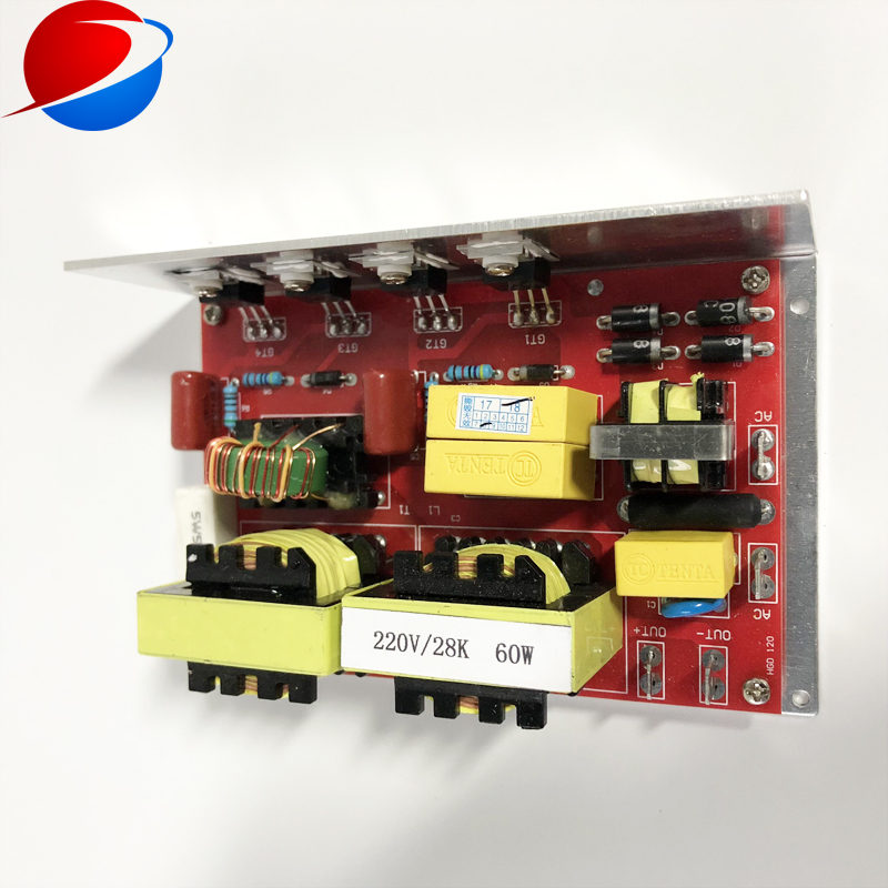 ultrasound transducer driver 28k 60W PCB power supply with ultrasonic transducers 28k 60w 1pieces for ultrasonic