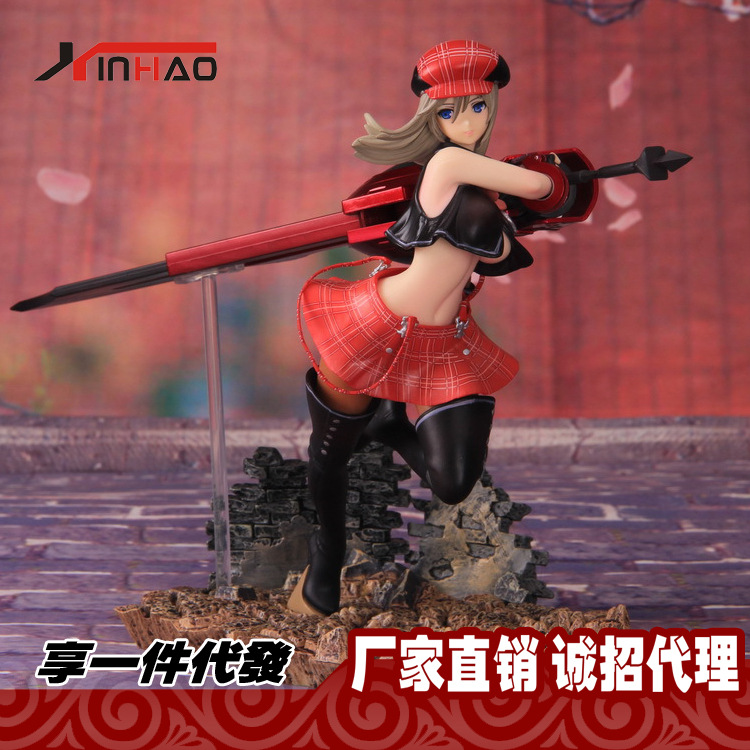 Alphamax PVC God Eater 2 Battle 1/8 BURST Alisa Llyinichna Omela Action Figure Anime Games Sexy Model Toy Gift Collectibles