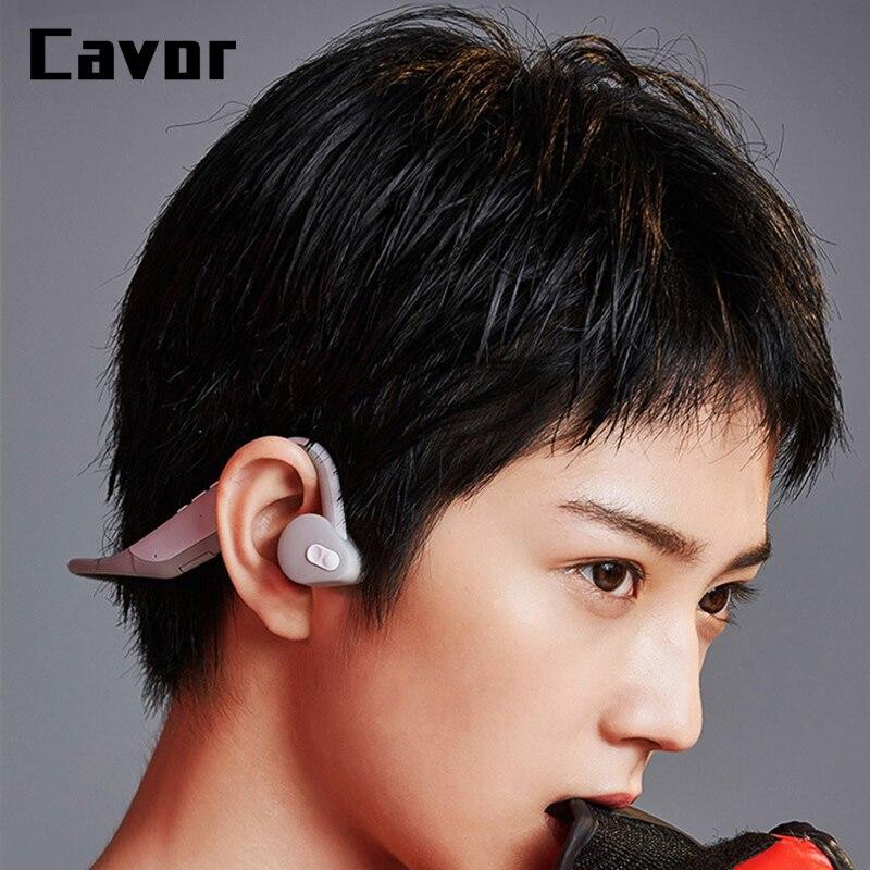 Fone de Ouvido sem Fio Fones à Prova Leve sem Fio para Iphone Nova Tecnologia Condução Óssea Bluetooth Dlightpeso Água x 2020