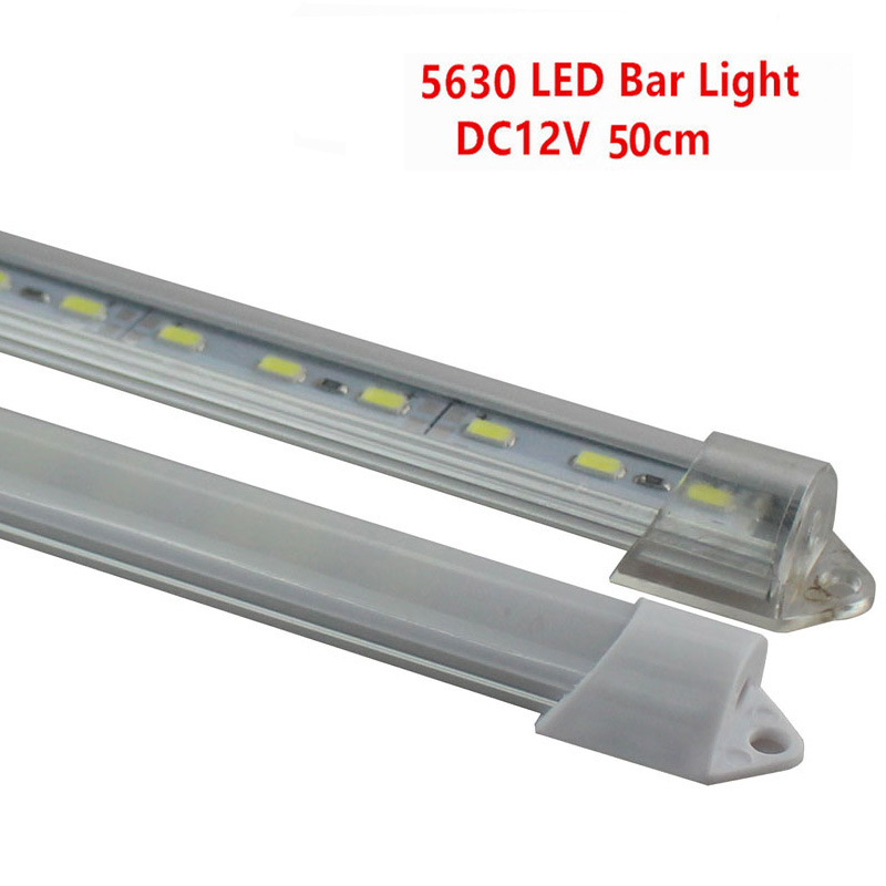 6PCS/LED 50cm/36LED Bar Lights DC12V 5630/5730 LED Rigid Strip 50cm LED Tube with U Aluminium Shell + PC Cover