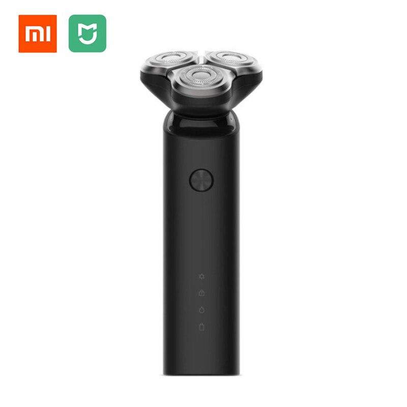 Original Xiaomi Mijia Afeitadora eléctrica flexión cabeza de afeitar 3 seca mojada lavable principal Sub doble cuchilla Turbo modo cómodo limpio