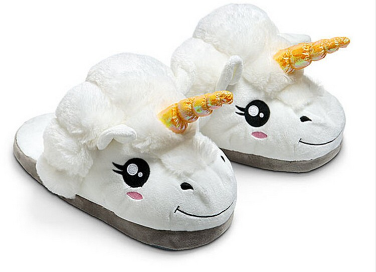 HTB13 29MXXXXXXyXpXXq6xXFXXXX - Indoor Slippers Plush Home Shoes Unicorn Slippers for Grown Ups Unisex Warm Home Slippers Shoes