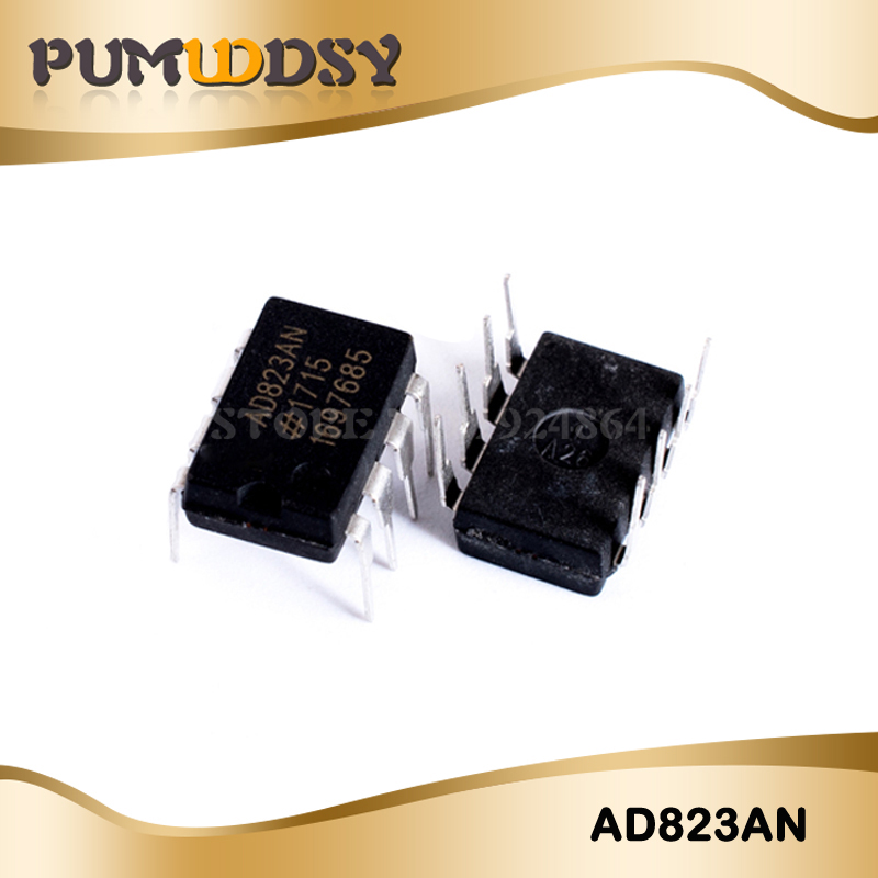 2pcs/lot AD823ANZ AD823 AD823AN DIP8 Dual, 16 MHz, Rail-to-Rail FET Input Amplifier New Original Free Shipping IC