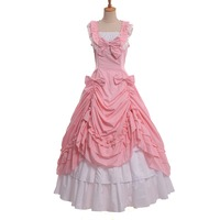 Medieval Renaissance Gothic Civil War Victorian Ball Gown Dress Halloween Vampire Costumes for Women