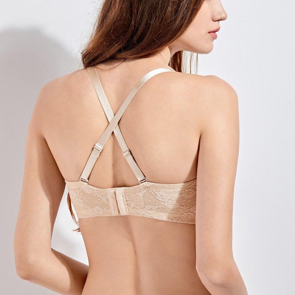 468e6f47d766f Women s Convertible Basic Sheer Underwire Non padded Multiway Strapless  Lace Bra-in Bras from Underwear   Sleepwears on Aliexpress.com