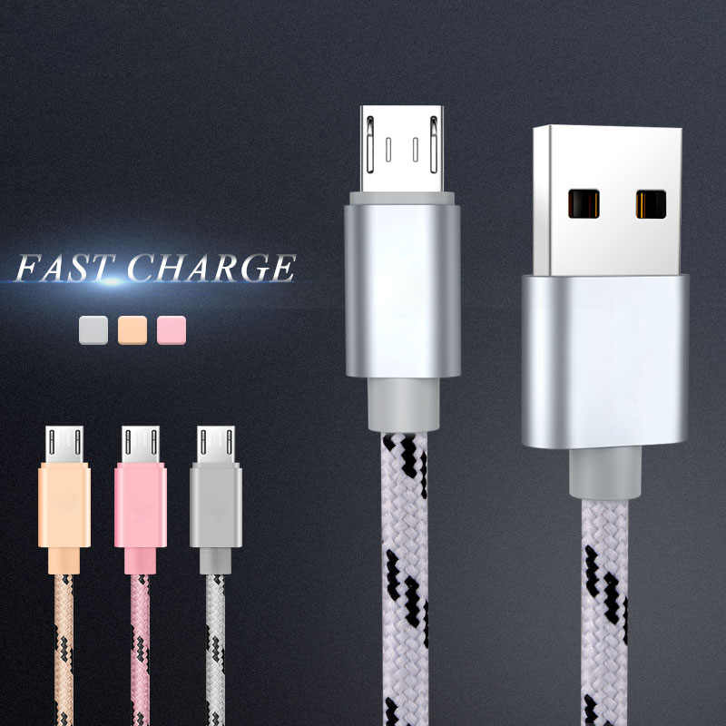 Micro USB Cable Fast Charging Phone Charger adapter Data Cabel For Samsung Xiaomi Huawei HTC SONY Android Charge Microusb