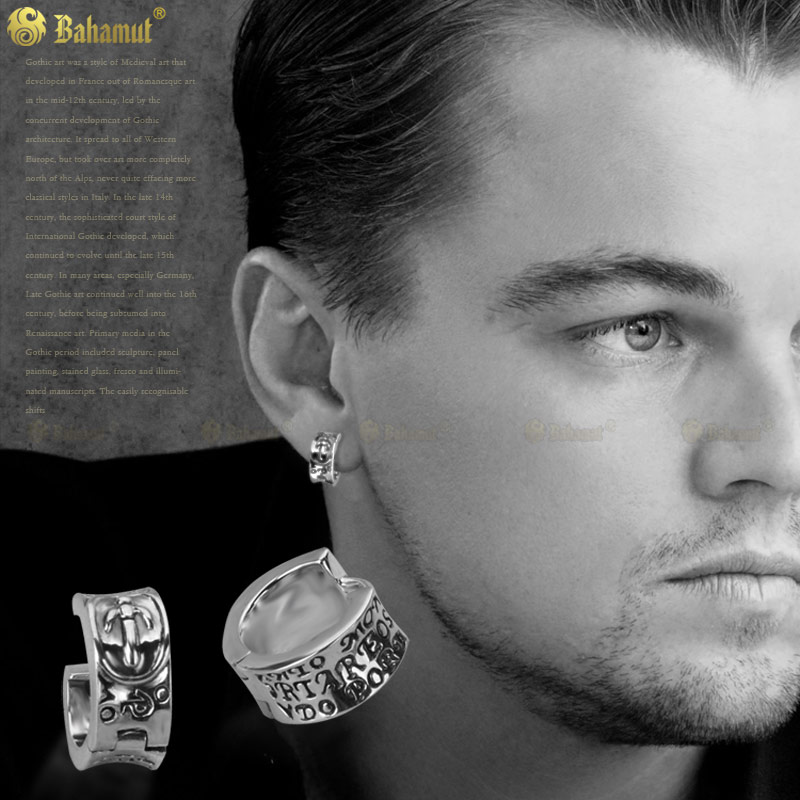 New Year S Men Ear 925 Sterling Silver Fashion Man Earrings Jewelry Buckle Single Ring One Earring In Hoop From