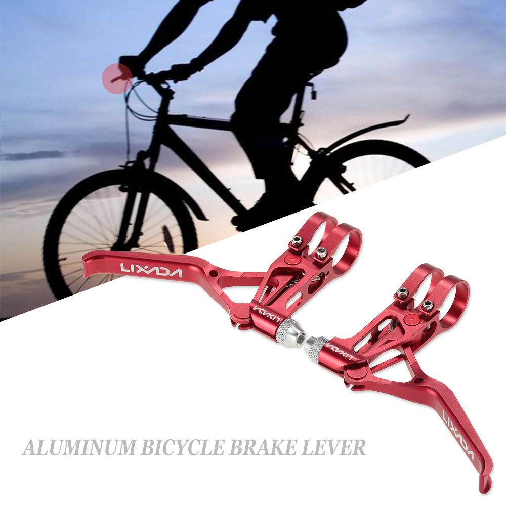2pcs Universal Brake Levers Three Finger for Mountain Bikes Bicycle Accessory G