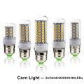 Energy Saving E27 LED Burb SMD5730 Corn Burb Warm White Light 24 36 48 56 69 81 89LEDs Burb Lamp AC220V Chandelier Candle Light