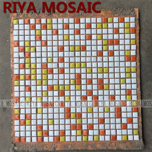 Free Shipping RIYA green  ceramic mosaic small grain background wall bathroom kitchen pool swimming 11pcs/lot