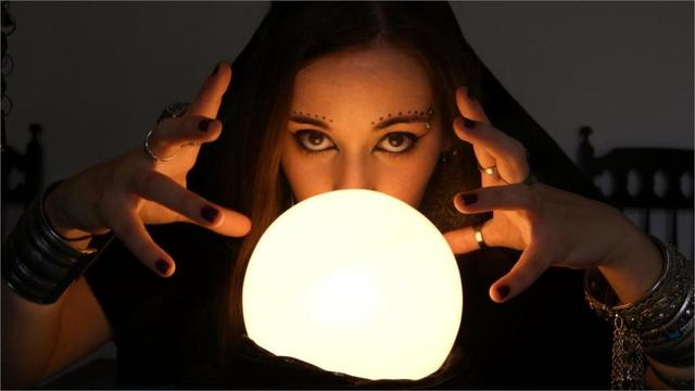 Fortune Teller Witch Occult Crystal Ball Fantasy Women Females Face