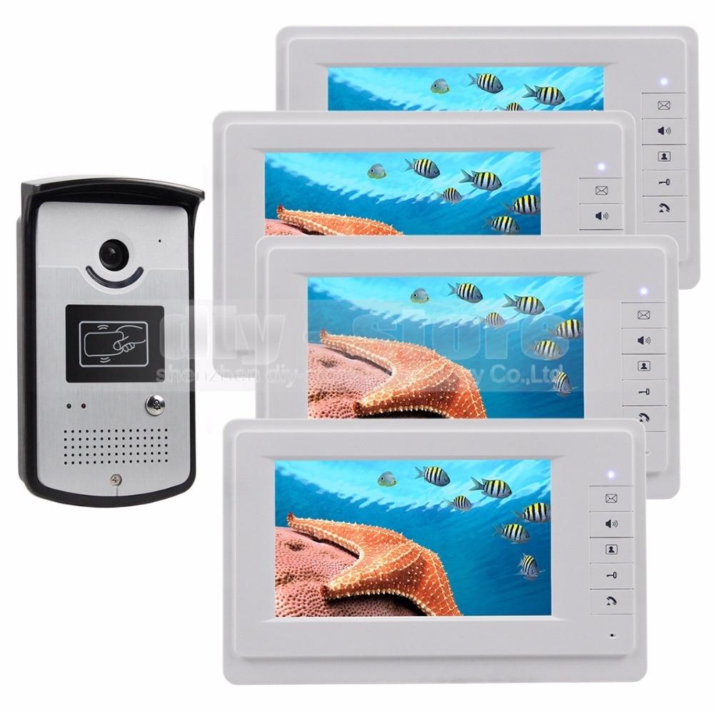 DIYSECUR Wired Video Door Phone Intercom System RFID Keyfobs Vandal ...