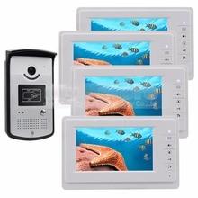 DIYSECUR Wired Video Door Phone Intercom System RFID Keyfobs Vandal Proof 7 inch Monitor 1V4
