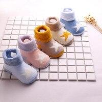 MUQGEW 5 Pairs NewBorn Cute Baby Kids Toddler Casual Socks Cartoon Unisex Warm Socks
