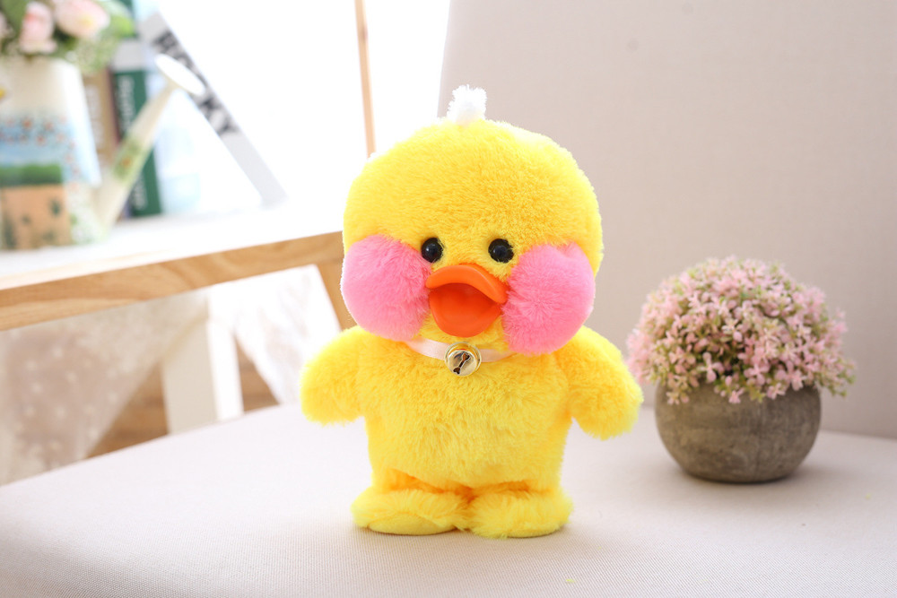 Yellow brinquedos baby toys duck Baby Soft Plush Toy Singing Stuffed Animated Animal Kid Doll Gift