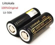 Unids 100% Liitokala Lii-50a Originais 3.7 V 5000 Mah 26650 Bateria Inr 26650-20a Baterias Recargables Parágrafo Linterna e microfono