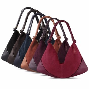 Image 5 - Women Handbags Real Suede Leather Shoulder Bag Ladies Fashion Hobo Bags Casual Leisure Shopping Sac A Main Femme Bolsos Mujer