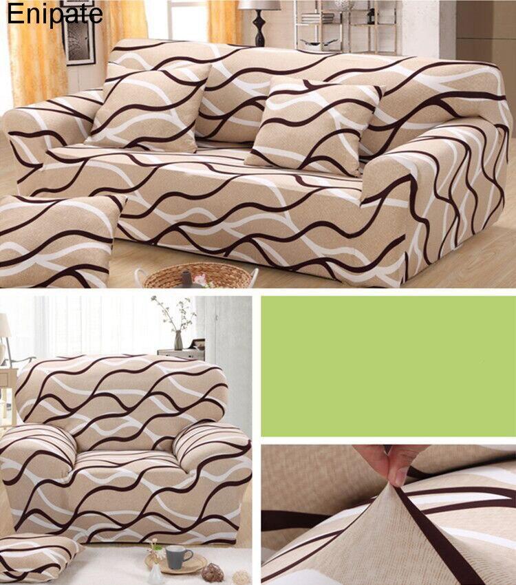 Enipate Regenbogen Zucker Sofa Abdeckung SlipcoverAll Inclusive Universal Home Decor Elastische Sofakissen Tuch Wohnzimmer Kissen