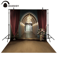 Allenjoy vinyl backdrops for photography backdrop Church Arches sacred Red curtain Background for photo foto background