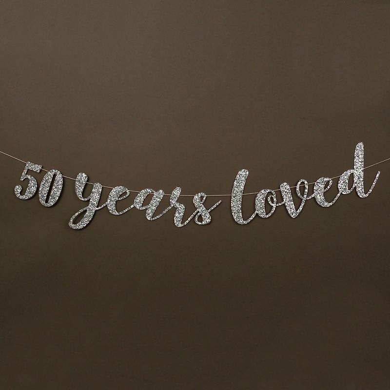 50 жыл өте жақсы көретін Glitter Banner 50th - Мерекелік және кешкі заттар - фото 6