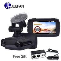 JUEFAN автомобильный камера видеорегистратор радар детектор s dash камера видео рекордер HD 1296 P Русский Радар детектор сигнализации автомобиля с
