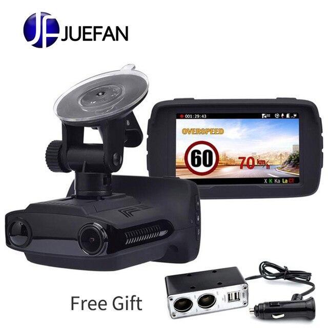 JUEFAN car dvr camera radar detectors dash camera video recorder HD 1296P Russian radar detector alarm vehicle speed control GPS