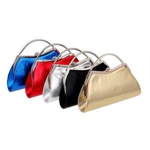 Image 5 - SEKUSA تصميم بسيط مختلط 5 لون مع مقبض حقائب السهرة قذيفة على شكل سلسلة الكتف رسول حقائب للحزب مساء حقيبة