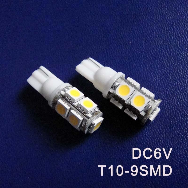 High quality DC6V 6.3V T10 w5w 194 168 501 Led Indicator light Warning Signal Caution Light Pilot Lamp free shipping 10pcs/lot