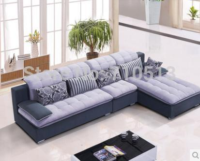 Top quality good design living room sofa set flocking for Good sofas for small living rooms