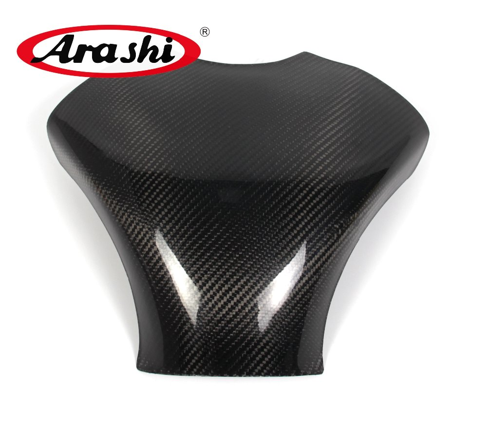 Arashi Ninja ZX6R 2007 2008 Carbon Fiber Tank Cover Gas Protector For KAWASAKI NINJA ZX6R Motorcycle Accessories Shield arashi ninja250 motorcycle parts carbon fiber tank cover gas fuel protector case for kawasaki ninja250 2008 2009 2010 2011 2012