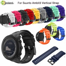 Sports Silicone Watch Strap for Suunto Ambit3 Vertical Watch Band Replacement Wristband for Suunto Traverse Alpha/Suunto Spartan смарт часы suunto ambit3 vertical hr синий ss021968000