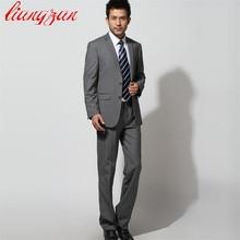 Мужской деловой костюм, смокинг, формальная Мода, приталенный, Свадебный, на двух пуговицах, костюм, Блейзер, брендовая одежда для вечеринки(пиджак+ брюки+ галстук