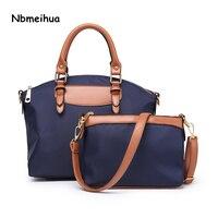 NBmeihua Brand Fashion Women Handbag High Quality Imitation Oxford Cloth Tote Bag Female Shoulder Messenger Bags