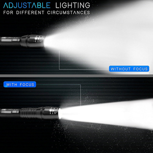 Image 3 - 슈퍼 밝은 led 전술 손전등 방수 t6/l2 방수 토치 5 모드 zoomable 손전등으로 설정